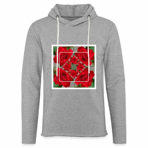 Rose Design - Leichtes Kapuzensweatshirt Unisex
