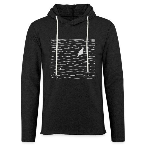 Windsurfer & Shark (white) - Leichtes Kapuzensweatshirt Unisex