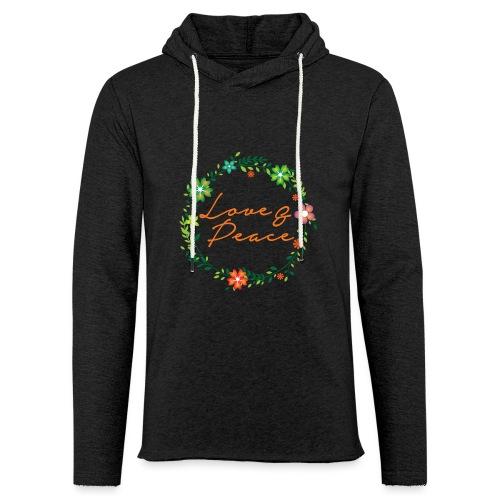 Love and Peace - Light Unisex Sweatshirt Hoodie