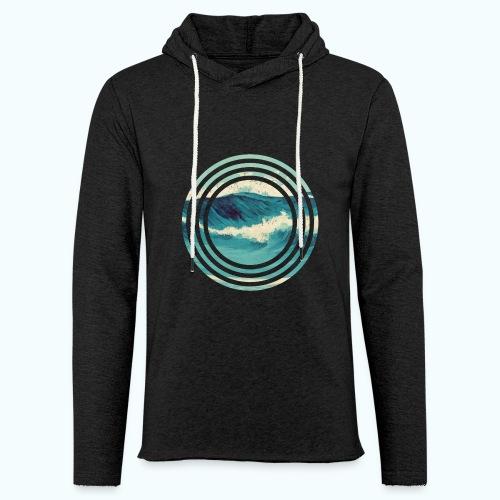 Wave vintage watercolor - Light Unisex Sweatshirt Hoodie