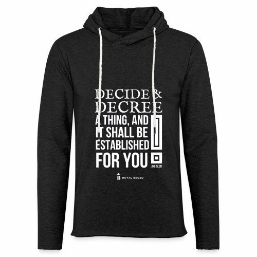 Decision - Sweat-shirt à capuche léger unisexe