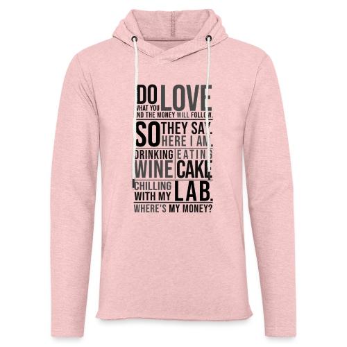 Wine, Cake, Lab III - Kevyt unisex-huppari