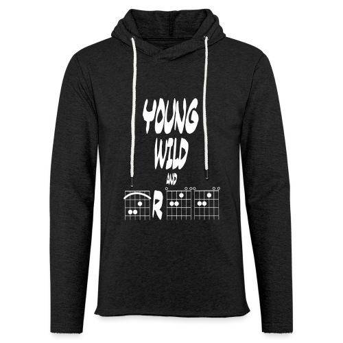 Young wild and free in guitar chords - Light Unisex Sweatshirt Hoodie