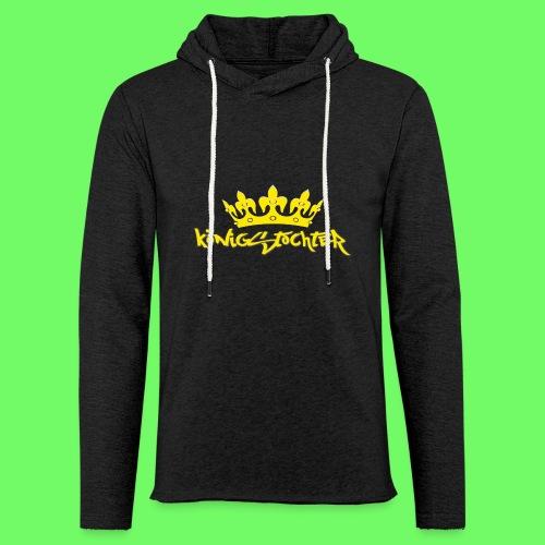 Königstochter m. Krone über der stylischen Schrift - Leichtes Kapuzensweatshirt Unisex