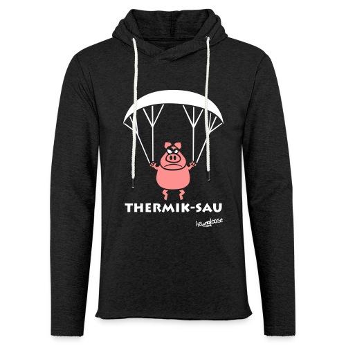 ThermikSau_braun - Leichtes Kapuzensweatshirt Unisex