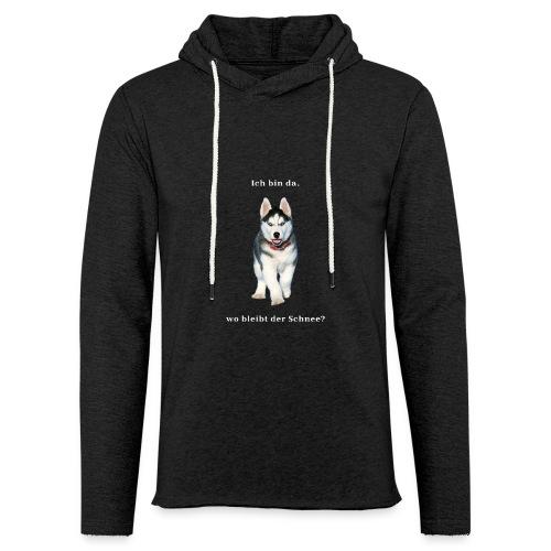 Husky Welpen mit bezaubernden Augen - Leichtes Kapuzensweatshirt Unisex