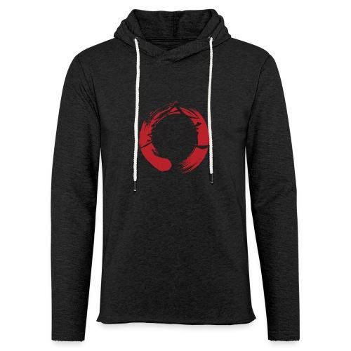 KAK logo black ink - Let sweatshirt med hætte, unisex