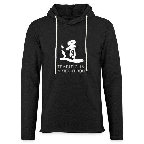 TAE logo white TRANSPARENT - Let sweatshirt med hætte, unisex
