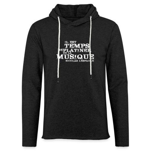 PLATINER DE LA MUSIQUE - Sweat-shirt à capuche léger unisexe