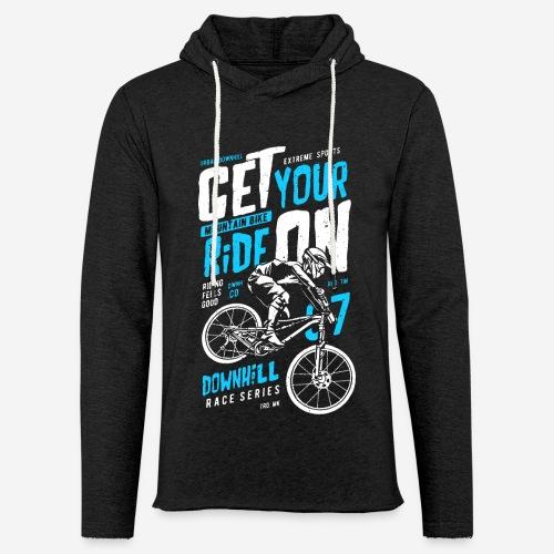 Radfahrer Biker - Leichtes Kapuzensweatshirt Unisex