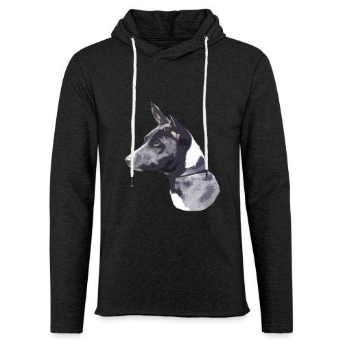 basenji black - Let sweatshirt med hætte, unisex