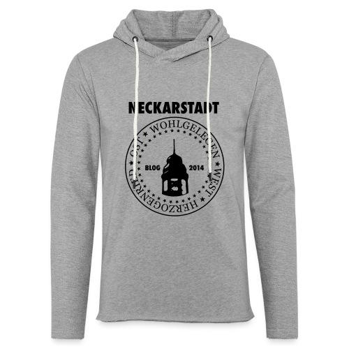 Neckarstadt Blog seit 2014 (Logo dunkel) - Leichtes Kapuzensweatshirt Unisex