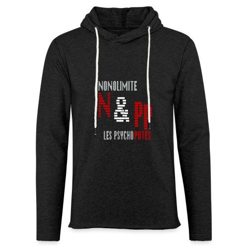 NePP noir - Sweat-shirt à capuche léger unisexe