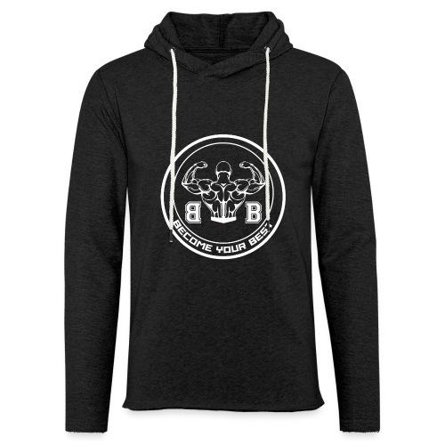 BYB logo white - Let sweatshirt med hætte, unisex