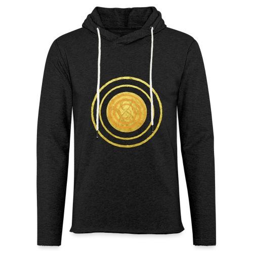 Glückssymbol Sonne - positive Schwingung - Spirale - Leichtes Kapuzensweatshirt Unisex
