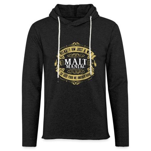 Malt Maniac - Leichtes Kapuzensweatshirt Unisex