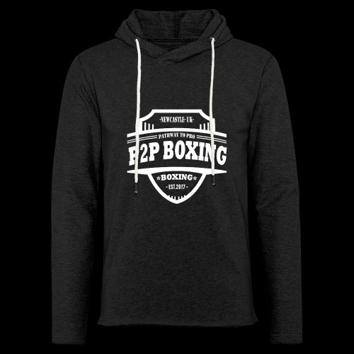 P2P Boxing White Logo - Light Unisex Sweatshirt Hoodie