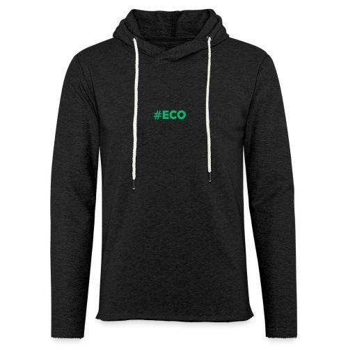 #ECO Blue-Green - Leichtes Kapuzensweatshirt Unisex