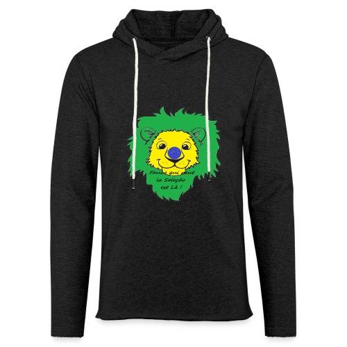 Lion supporter Brésil - Sweat-shirt à capuche léger unisexe