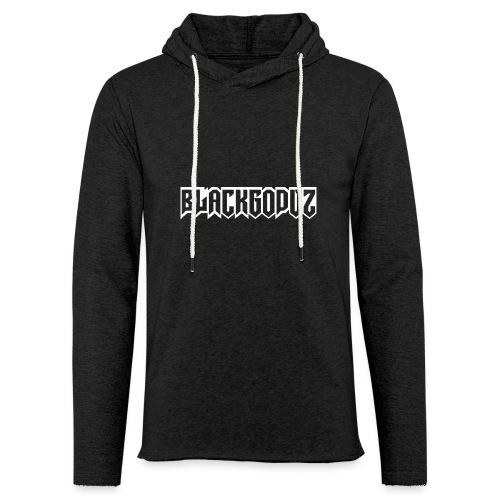 blackgodvz - Felpa con cappuccio leggera unisex