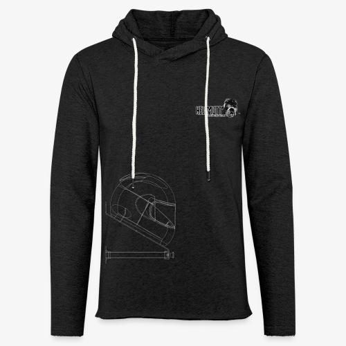 HellMutt LOGO & Bracket for Dark Fabric ONLY - Light Unisex Sweatshirt Hoodie