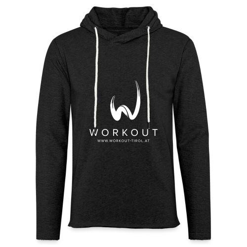 Workout mit Url - Leichtes Kapuzensweatshirt Unisex