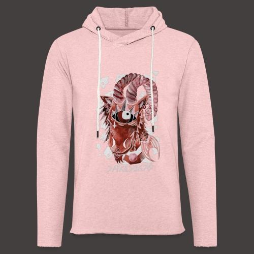 capricorne Négutif - Sweat-shirt à capuche léger unisexe