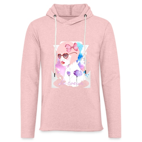 Le coeur - Sweat-shirt à capuche léger unisexe