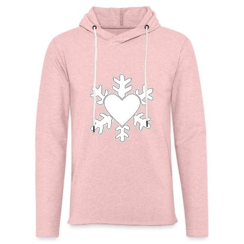 Flocon coeur 3D - Sweat-shirt à capuche léger unisexe