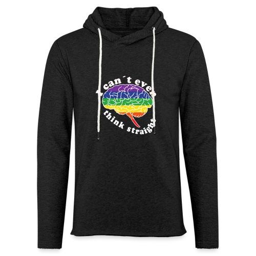 Ich kann nicht einmal klar denken   LGBT - Leichtes Kapuzensweatshirt Unisex
