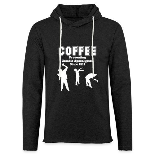 Coffee Apocalypse - Leichtes Kapuzensweatshirt Unisex