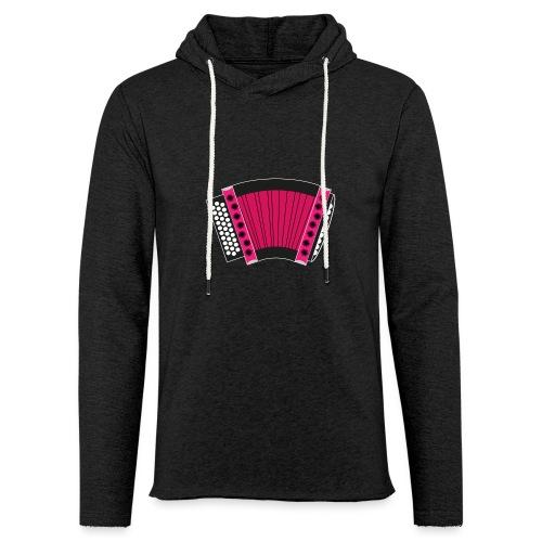 Schwyzerörgeli pink schwarzer Hintergrund - Leichtes Kapuzensweatshirt Unisex
