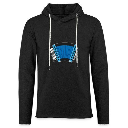 Schwyzerörgeli blau schwarzer Hintergrund - Leichtes Kapuzensweatshirt Unisex