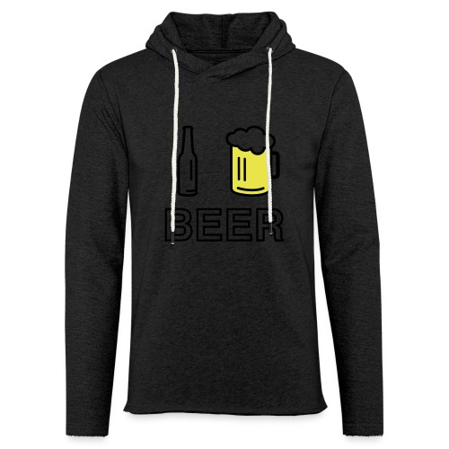 I Love Beer (2-farbig) - Leichtes Kapuzensweatshirt Unisex