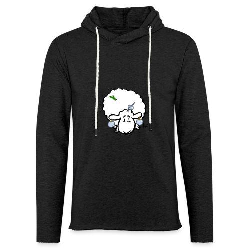 Juletræ får - Let sweatshirt med hætte, unisex
