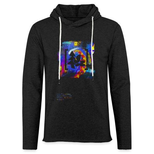 #art.4.nature / blau - Leichtes Kapuzensweatshirt Unisex