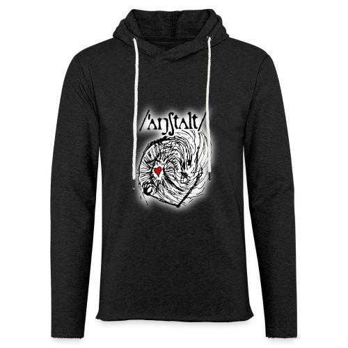 wesen mit herz und logo - Leichtes Kapuzensweatshirt Unisex