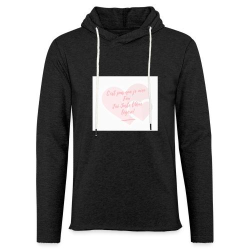 Légèreté - Sweat-shirt à capuche léger unisexe