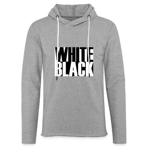 White, Black T-shirt - Lichte hoodie unisex