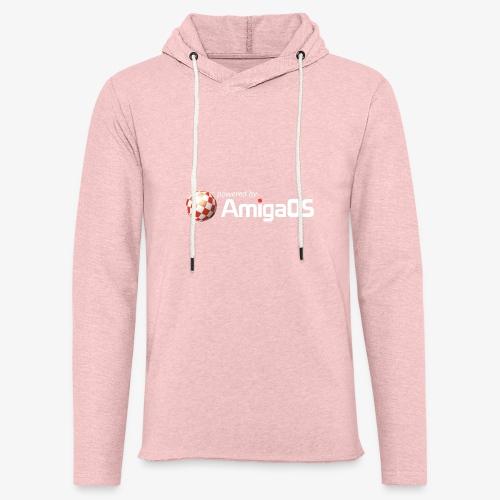 PoweredByAmigaOS white - Light Unisex Sweatshirt Hoodie