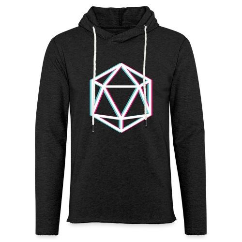 3D D20 weiß - Light Unisex Sweatshirt Hoodie