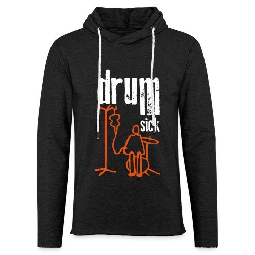 drums and text - Leichtes Kapuzensweatshirt Unisex