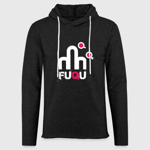 T-shirt FUQU logo colore bianco - Felpa con cappuccio leggera unisex