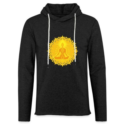 Yoga Lotus Meditation Chakren III - Leichtes Kapuzensweatshirt Unisex