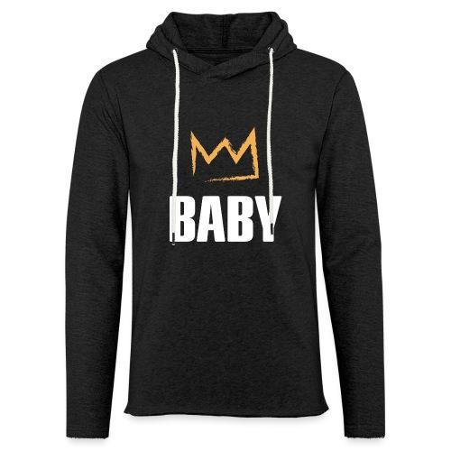 Baby mit Krone - Leichtes Kapuzensweatshirt Unisex