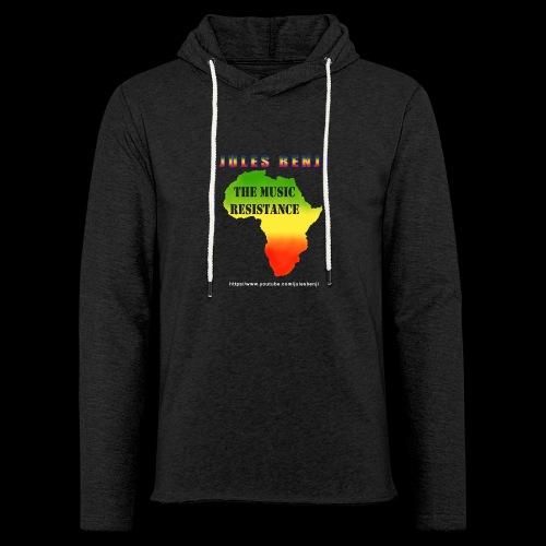 JULES BENJI & MUSIC RESISTANCE africa design - Light Unisex Sweatshirt Hoodie