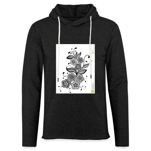 diseño de flores - Sudadera ligera unisex con capucha