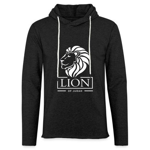 Lion of Judah - Rastafari - Leichtes Kapuzensweatshirt Unisex