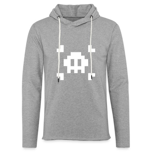 Pixel Skull - Sweat-shirt à capuche léger unisexe