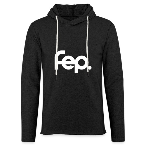 FEP logo black sticker k17 01 - Light Unisex Sweatshirt Hoodie